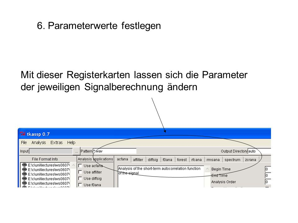 6. Parameterwerte festlegen