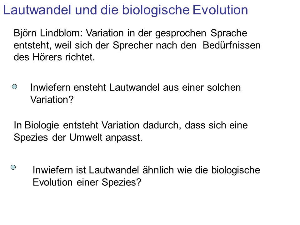 Lautwandel und die biologische Evolution