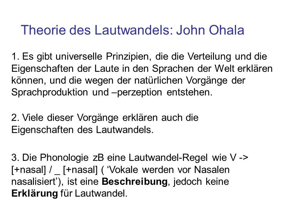 Theorie des Lautwandels: John Ohala