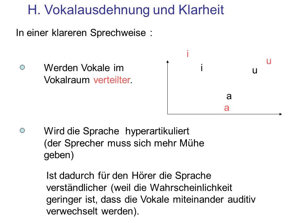 H. Vokalausdehnung und Klarheit