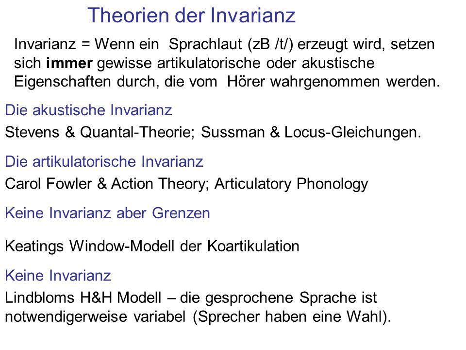 Theorien der Invarianz