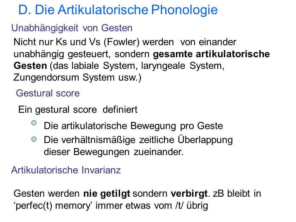 D. Die Artikulatorische Phonologie