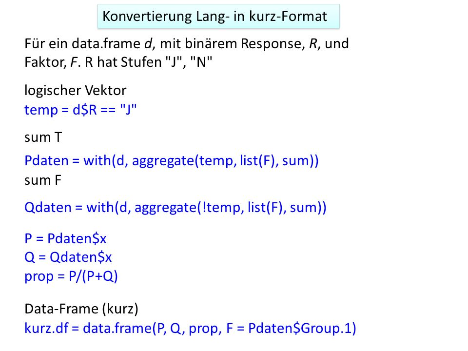 Konvertierung Lang- in kurz-Format