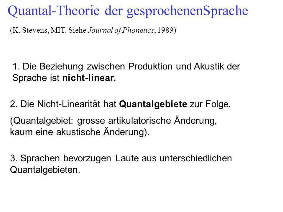 Quantal-Theorie der gesprochenenSprache