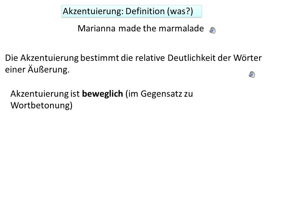 Akzentuierung: Definition (was )