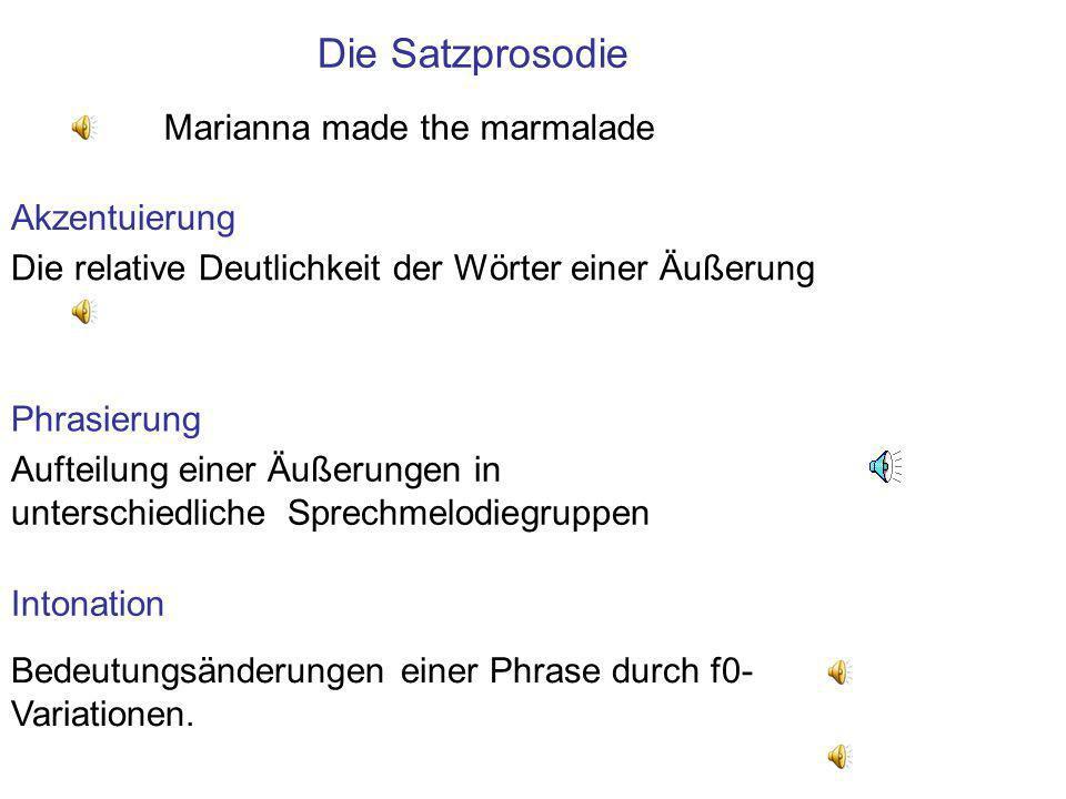 Die Satzprosodie Marianna made the marmalade Akzentuierung