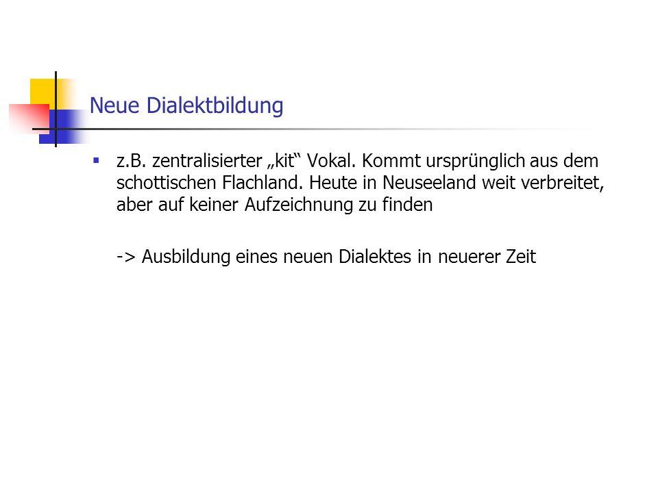 Neue Dialektbildung