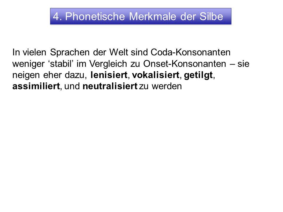 4. Phonetische Merkmale der Silbe