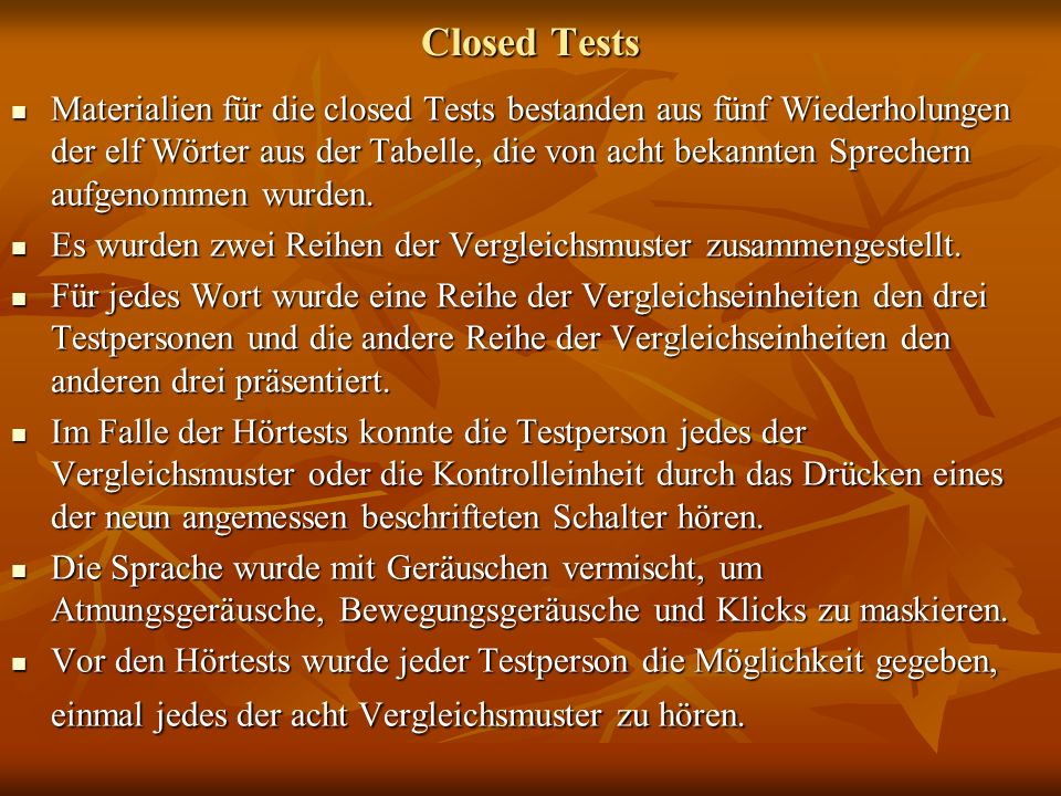 Closed Tests