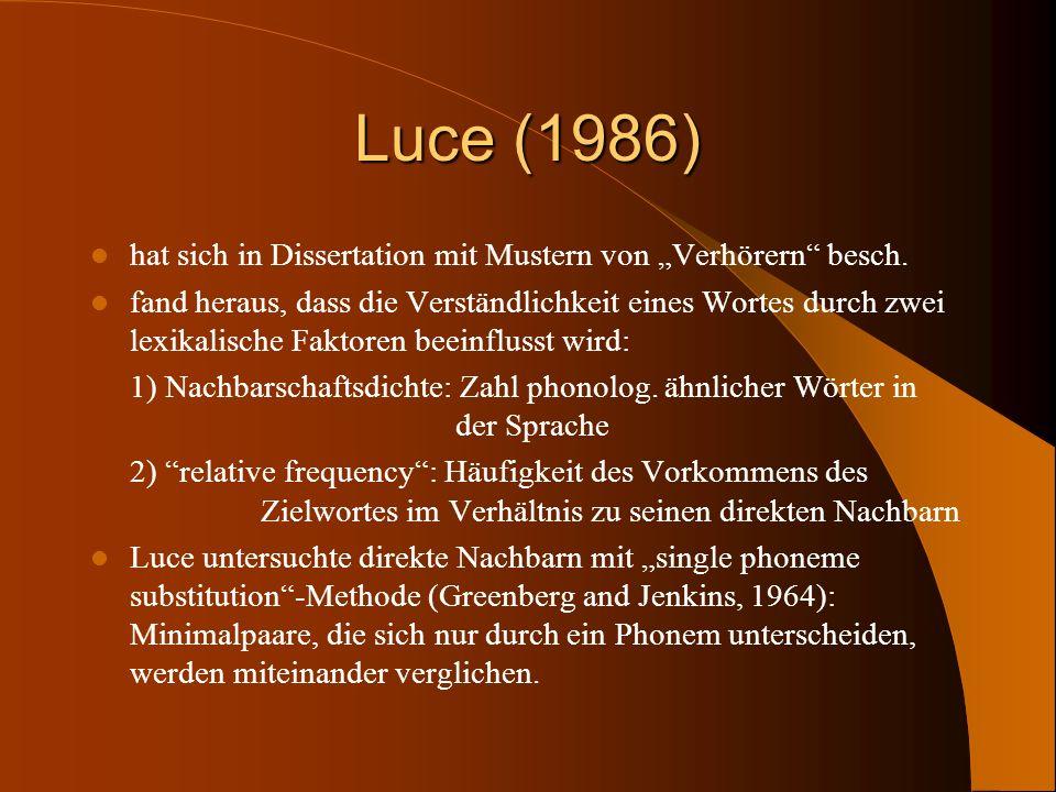 """Luce (1986) hat sich in Dissertation mit Mustern von """"Verhörern besch."""