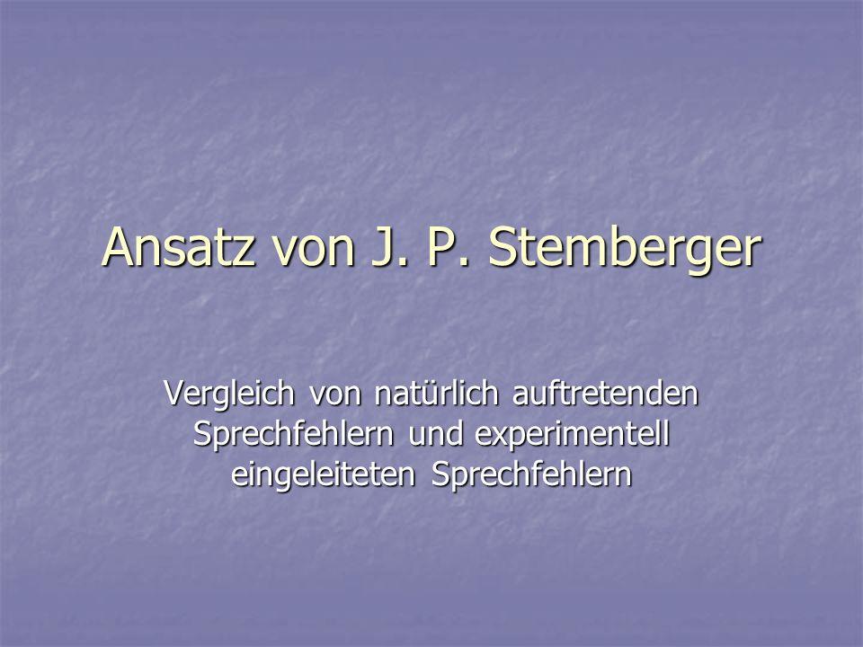 Ansatz von J. P. Stemberger
