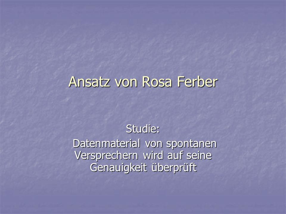 Ansatz von Rosa Ferber Studie: