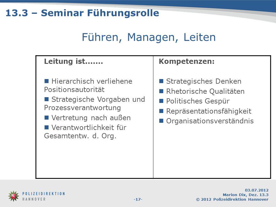 13.3 – Seminar Führungsrolle
