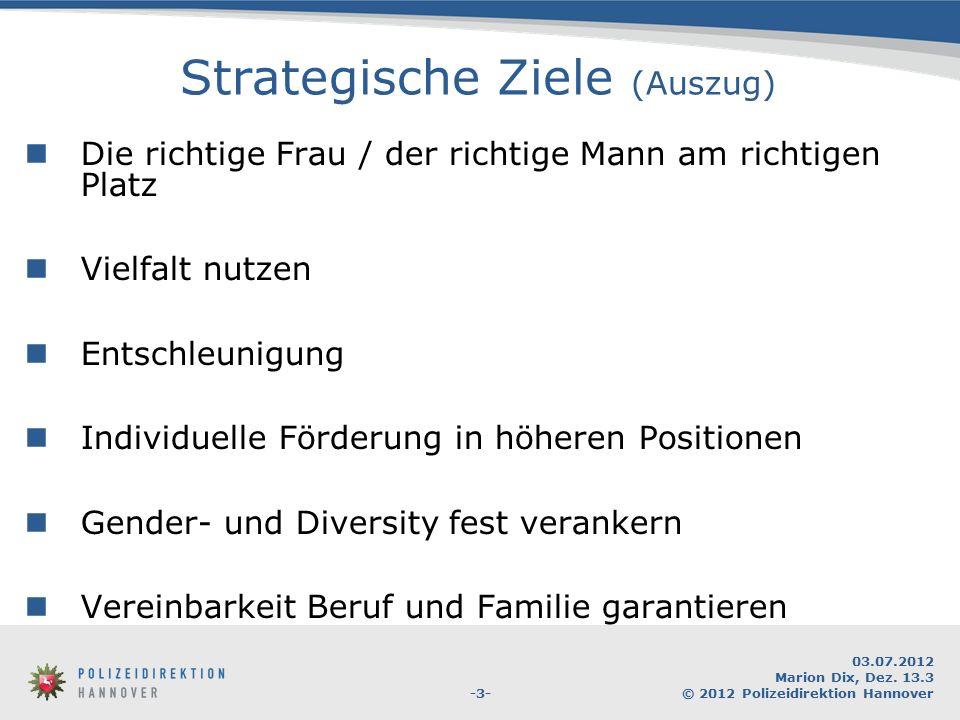 Strategische Ziele (Auszug)