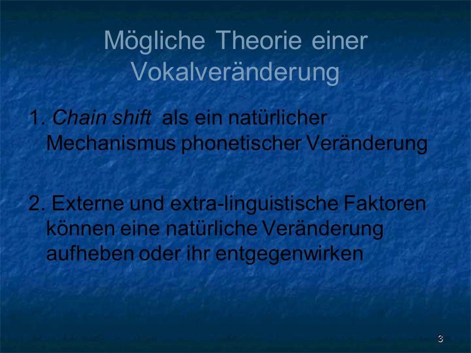 Mögliche Theorie einer Vokalveränderung