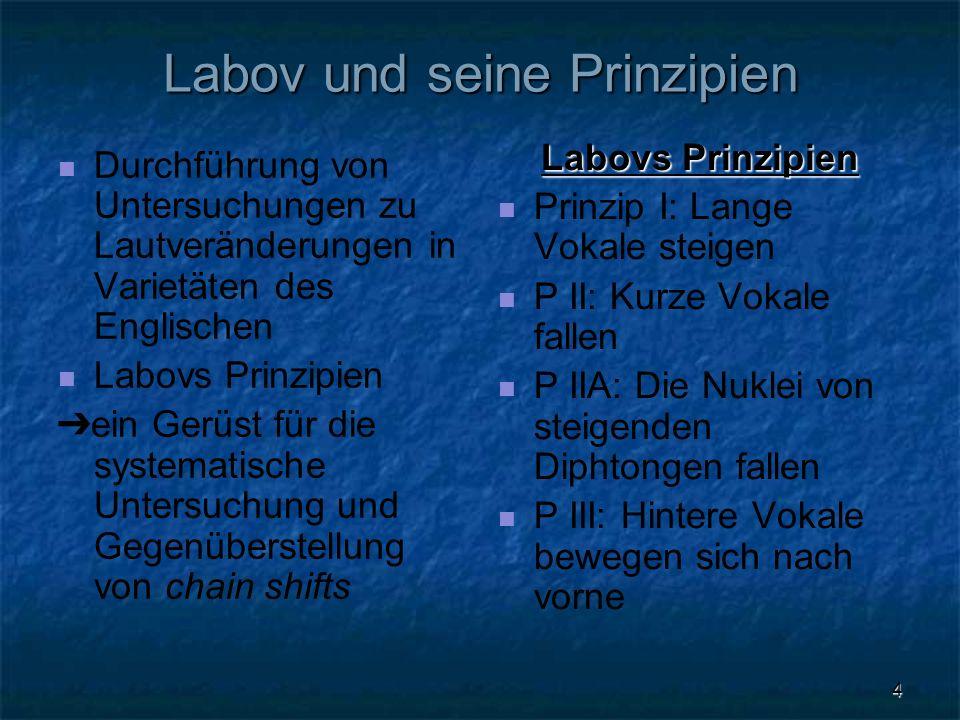 Labov und seine Prinzipien