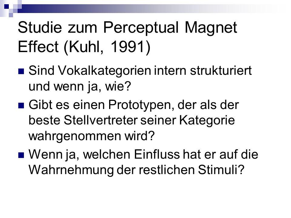 Studie zum Perceptual Magnet Effect (Kuhl, 1991)