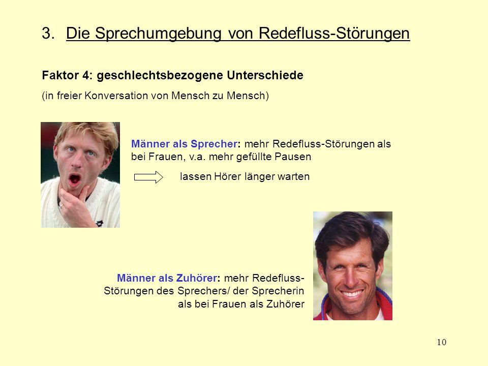 3. Die Sprechumgebung von Redefluss-Störungen