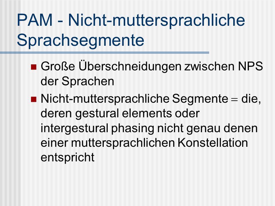 PAM - Nicht-muttersprachliche Sprachsegmente