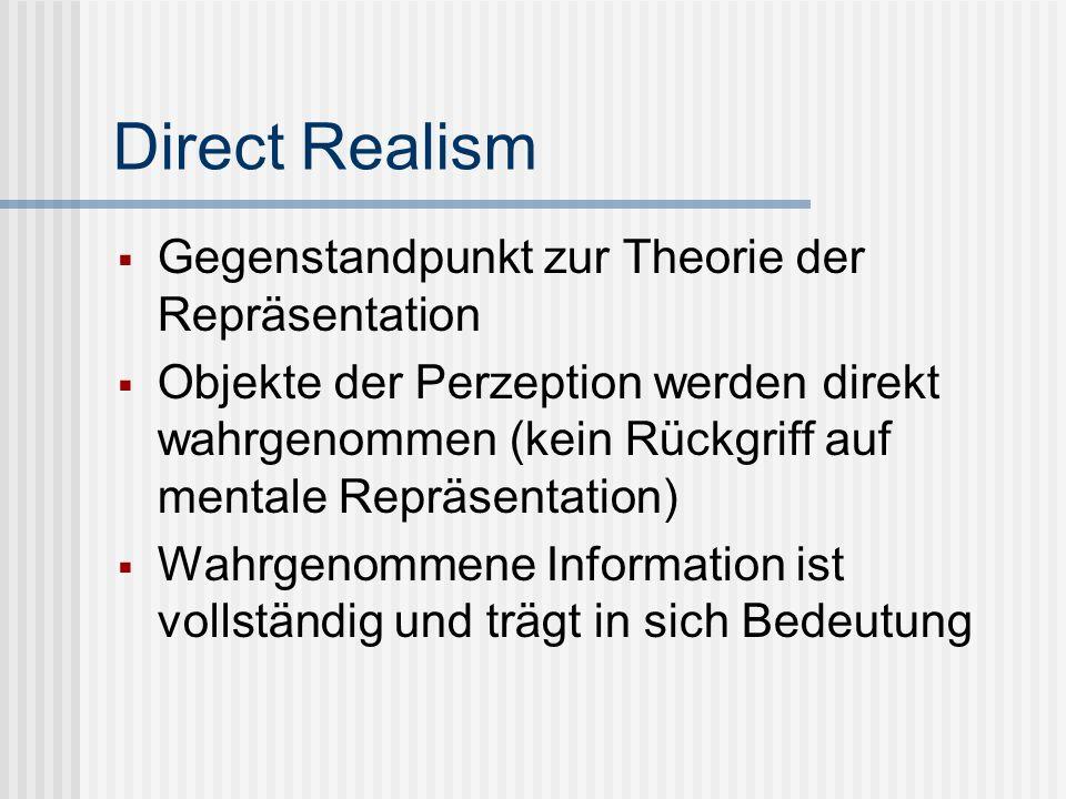 Direct Realism Gegenstandpunkt zur Theorie der Repräsentation