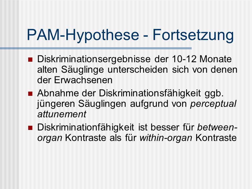 PAM-Hypothese - Fortsetzung