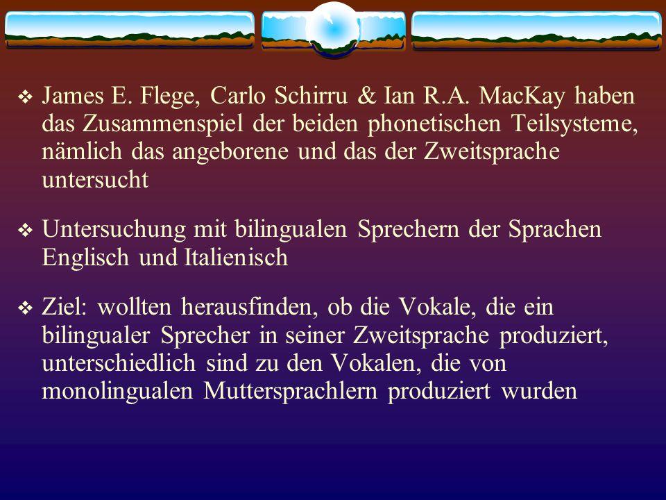 James E. Flege, Carlo Schirru & Ian R. A