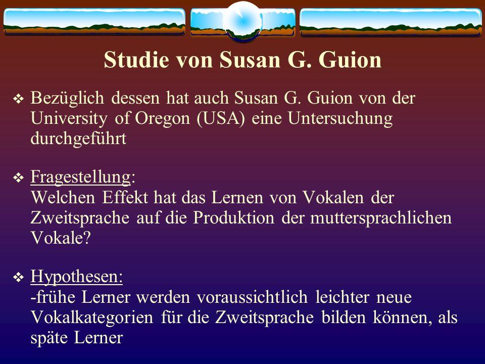 Studie von Susan G. Guion