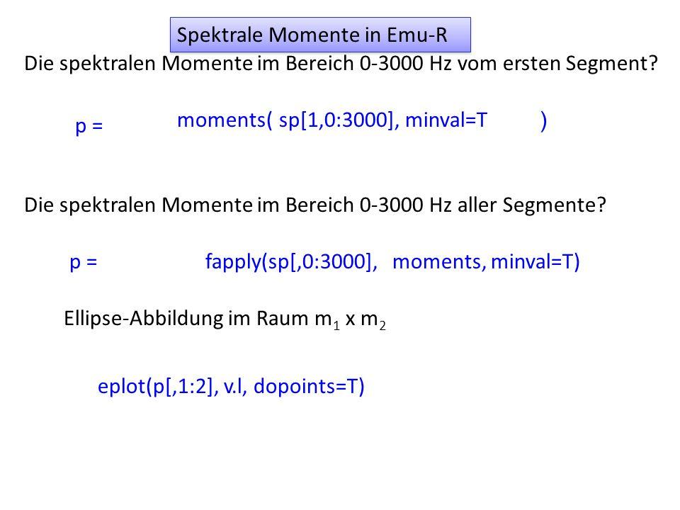 Spektrale Momente in Emu-R