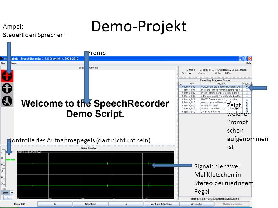 Demo-Projekt Ampel: Steuert den Sprecher Promp Zeigt, welcher Prompt