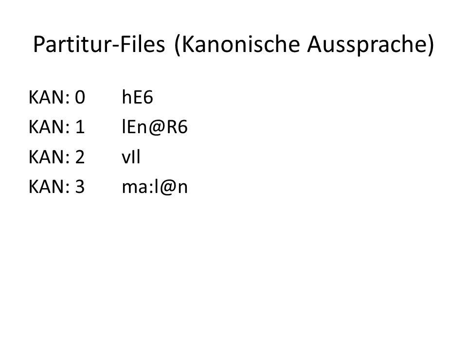 Partitur-Files (Kanonische Aussprache)
