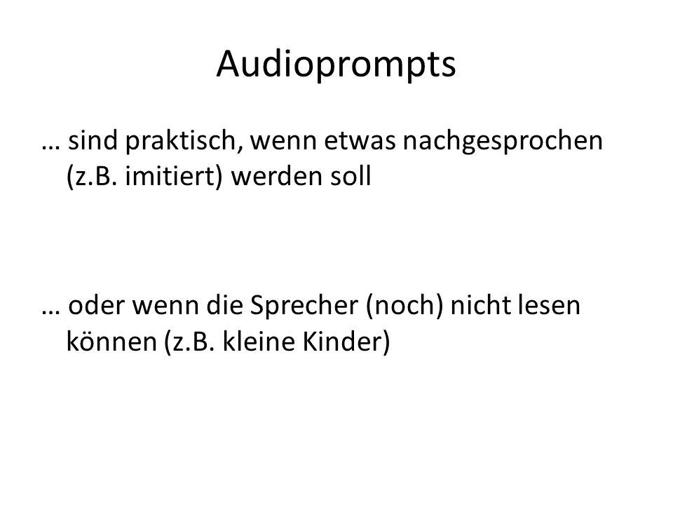 Audioprompts