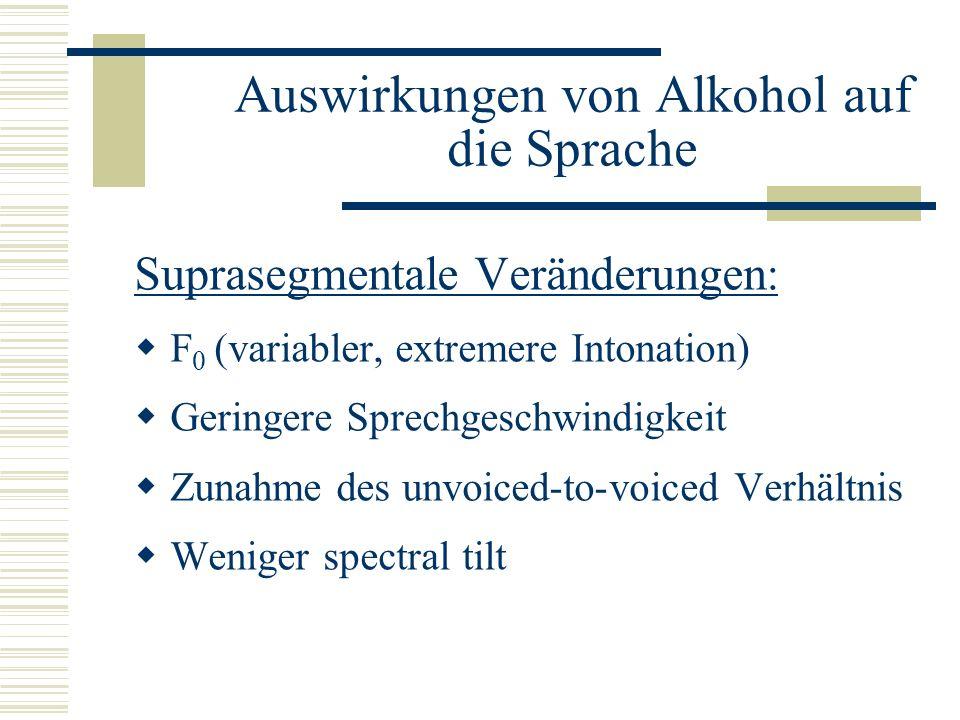 Auswirkungen von Alkohol auf die Sprache