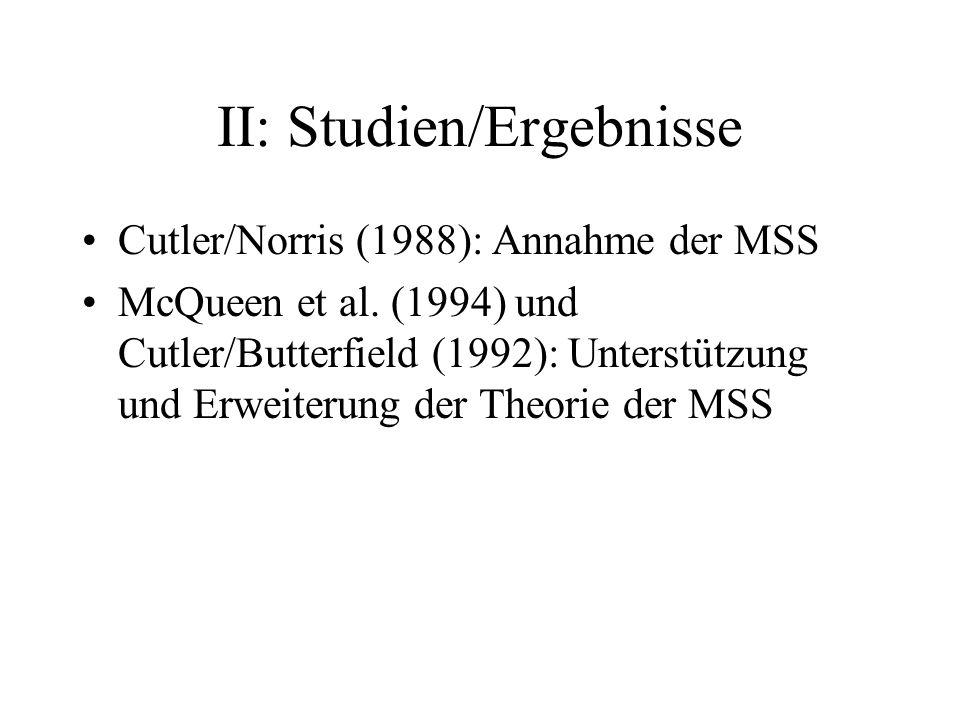 II: Studien/Ergebnisse