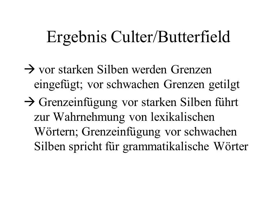 Ergebnis Culter/Butterfield