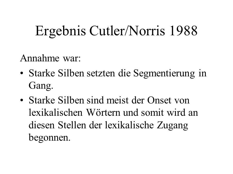 Ergebnis Cutler/Norris 1988