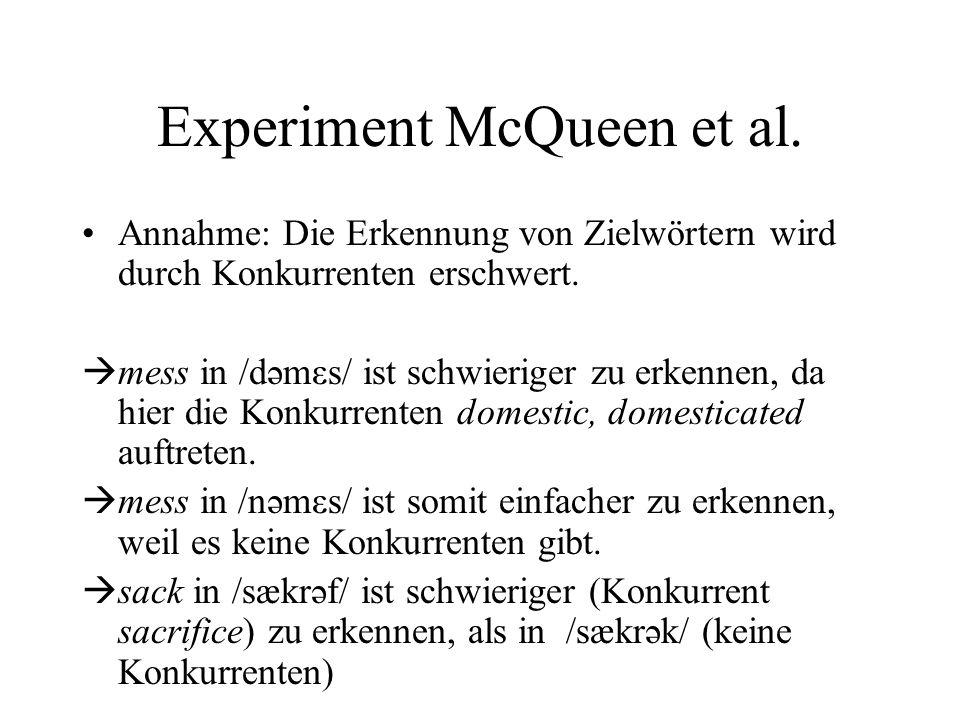 Experiment McQueen et al.
