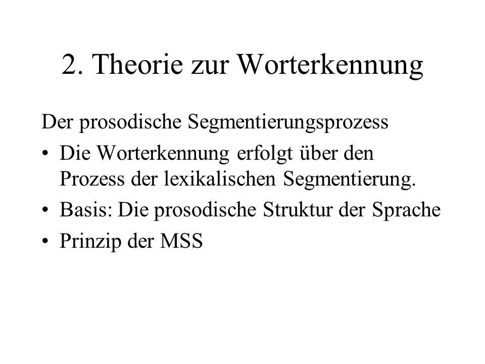 2. Theorie zur Worterkennung