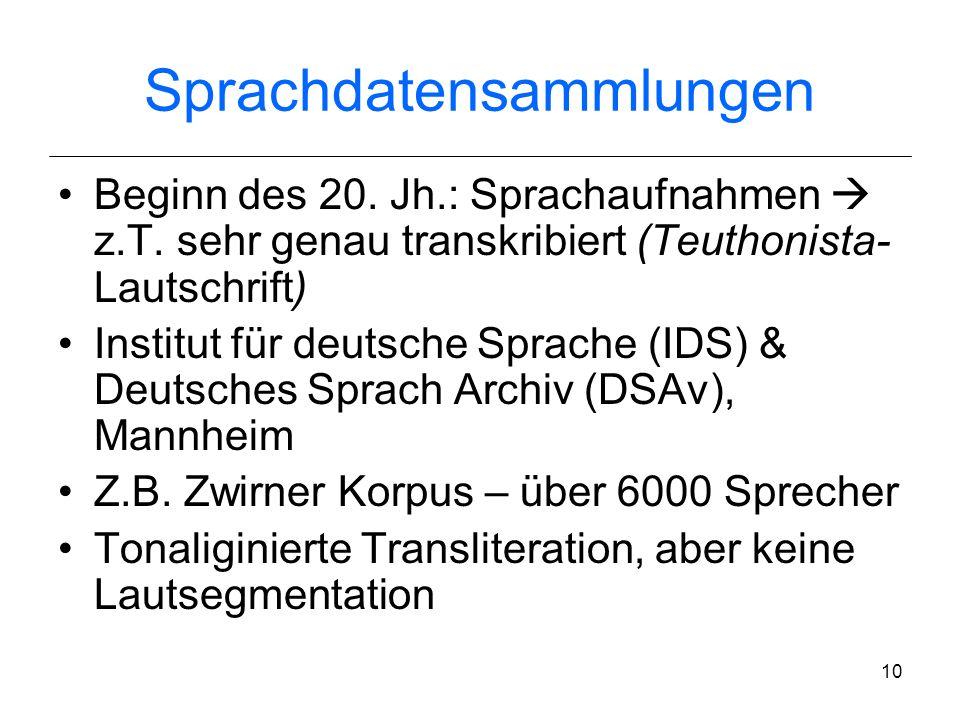Sprachdatensammlungen