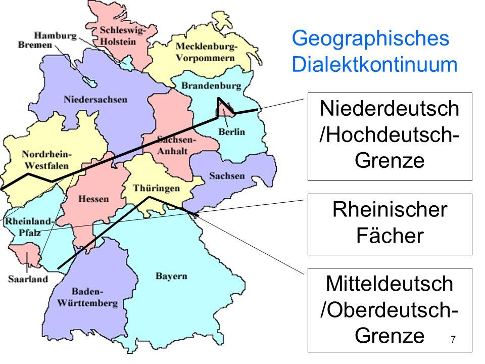 Geographisches Dialektkontinuum