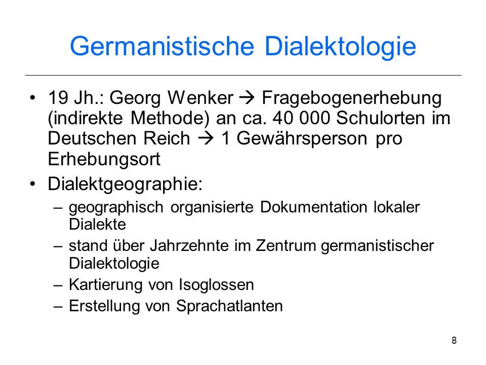 Germanistische Dialektologie