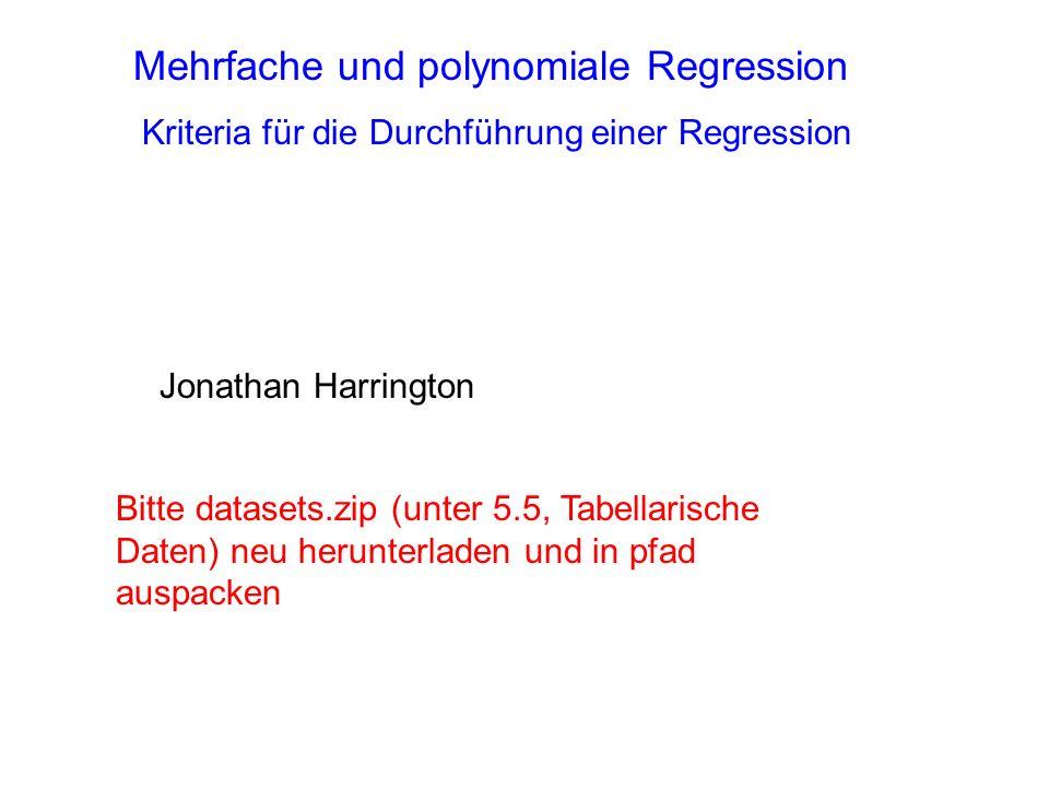 Mehrfache und polynomiale Regression