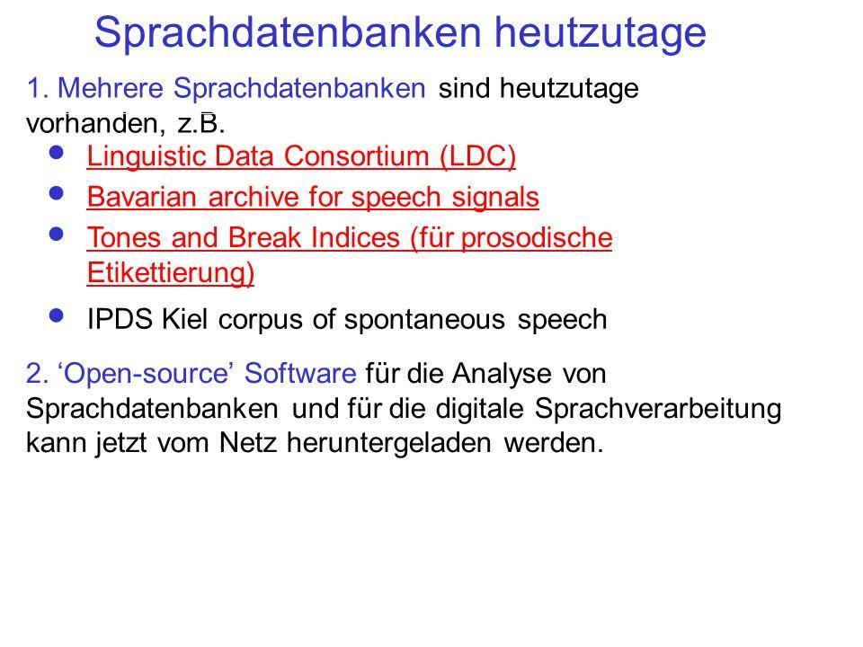Sprachdatenbanken heutzutage