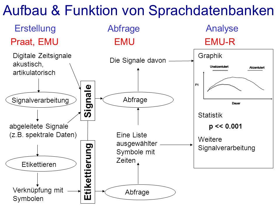 Aufbau & Funktion von Sprachdatenbanken
