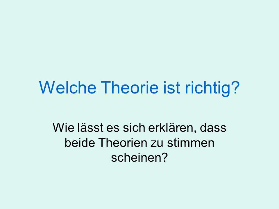 Welche Theorie ist richtig