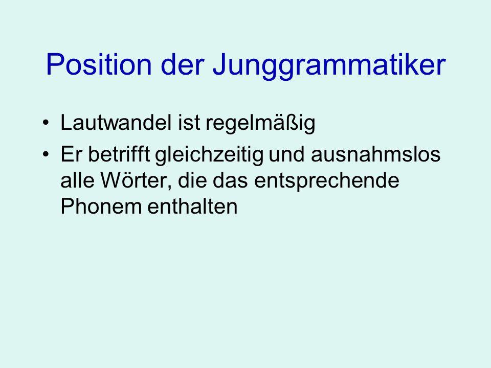 Position der Junggrammatiker