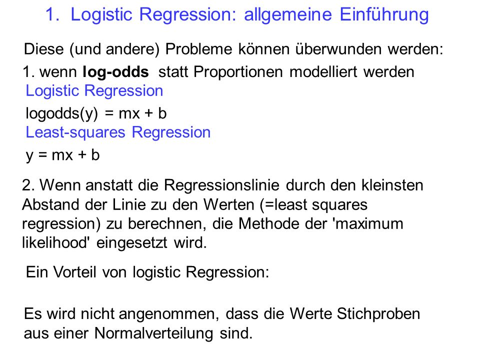 1. Logistic Regression: allgemeine Einführung