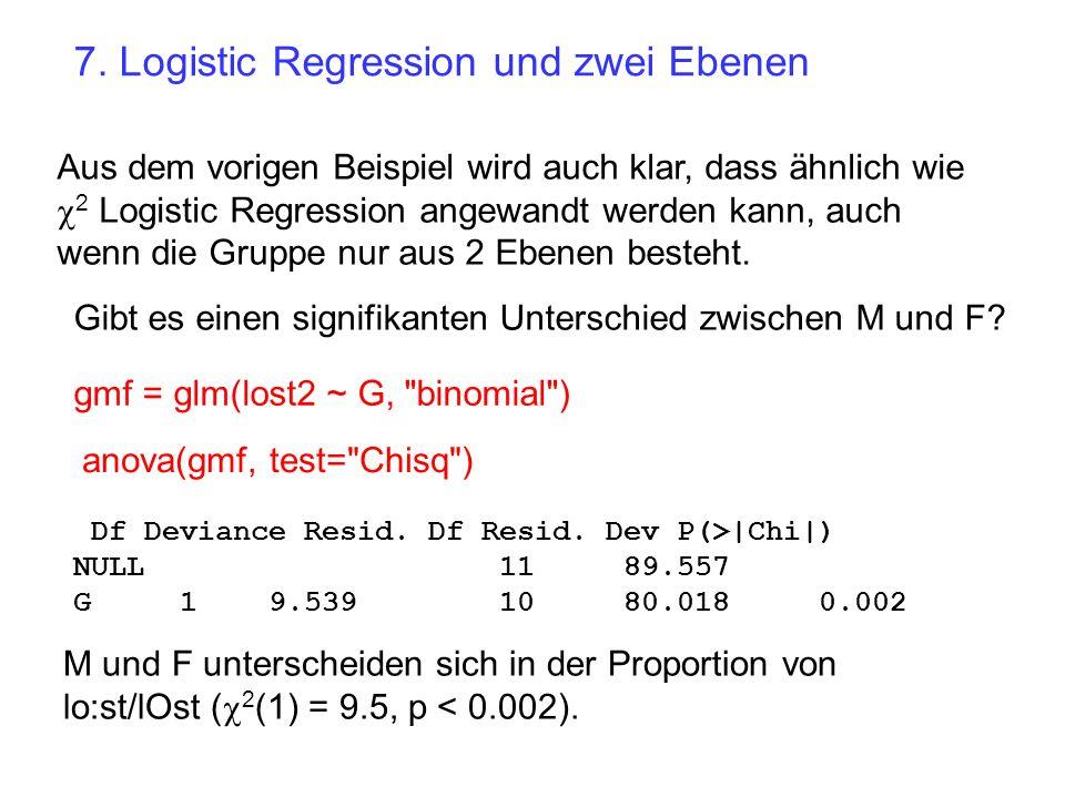 7. Logistic Regression und zwei Ebenen
