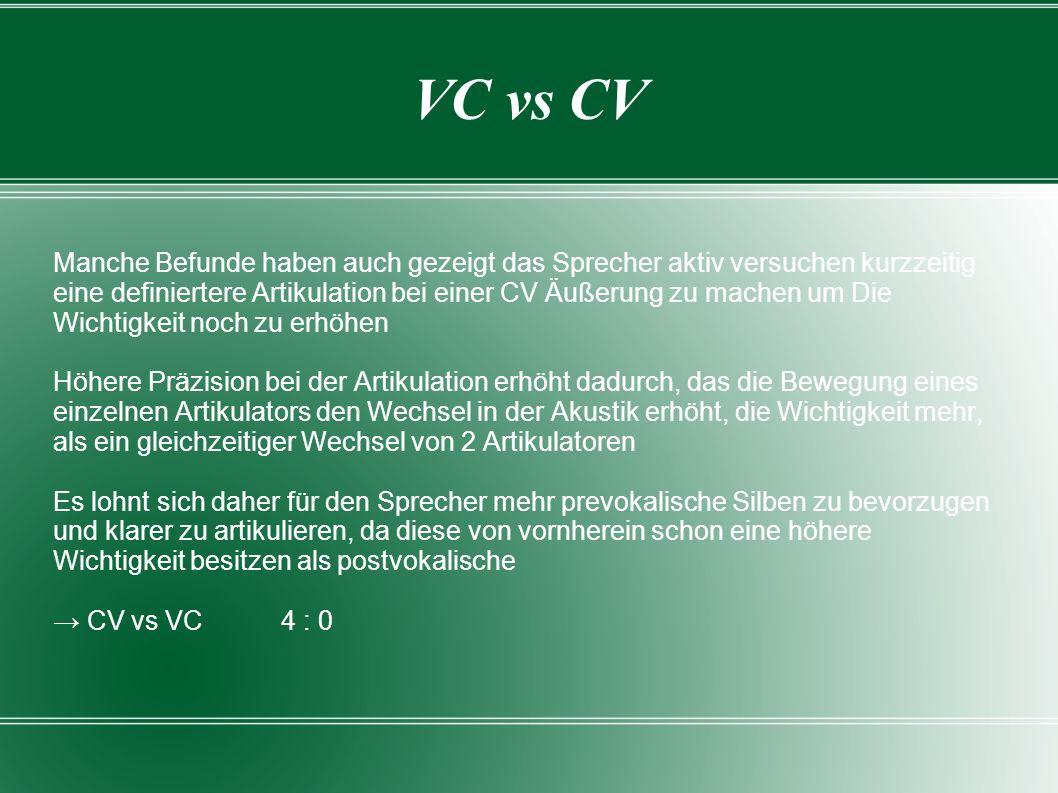 VC vs CV