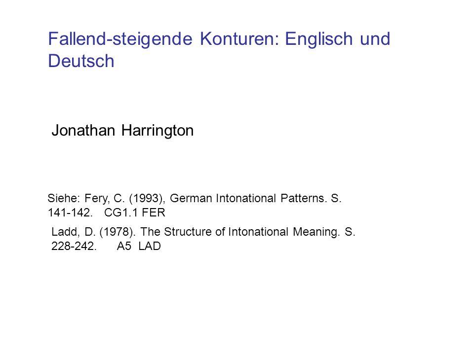 Fallend-steigende Konturen: Englisch und Deutsch