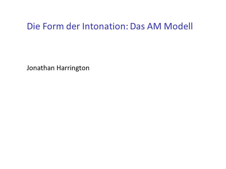 Die Form der Intonation: Das AM Modell